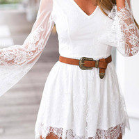 White Floral Romper with Lace Details not available