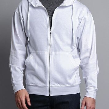 Men's Basic Zip Up Jersey Hoodie 13106