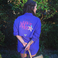 Women's Columbia Fishing Shirt with Lilly Pulitzer Accent