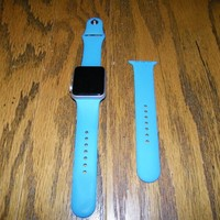 42MM Apple Watch 7000 Series (Series 1) Aluminum with Powder Blue Band