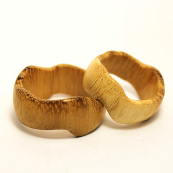 Wood Wedding Rings Hand Carved wood ring Natural Weddlng band Everydays Wear Modern Mens rings OOAK Minimalist ring Unisex ring Holiday Gift