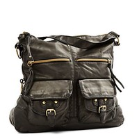 Cargo Pocket Washed Hobo Bag