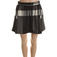 Free People Womens Knit Checkered A-Line Skirt