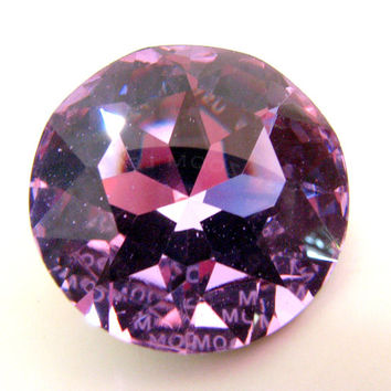 ALEXANDRITE - Large Color Changing Purple, Blue, & Aqua Round Rivoli Cut Shape Swarovski Crystal - 28mm Jewelry Supplies