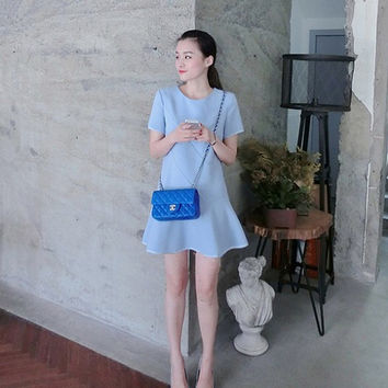 everyday dress/women dress/elegant dress/blue dress/light blue dress/short summer dress/summer dress woman/womens casual summer dresses