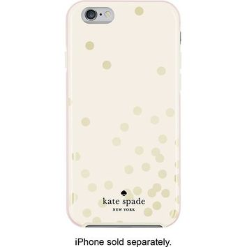 buy popular c35e1 faf4e kate spade new york - Confetti Hybrid Hard Shell Case for Apple® iPhone® 6  - Gold/Cream