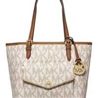 MICHAEL Michael Kors Specchio Jet Set Medium Pocket Multifunction Tote | macys.com