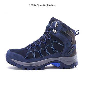 TFO Men women Hiking Shoes Boots 100% Genuine leather Camping Climbing Shoes Sneakers Breathable Mountain Boots Waterproof Shoes