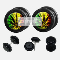 Luck leafe  plugs,fake Gauges,UV Acrylic  plugs,best  plugs