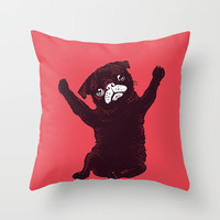 Hug Throw Pillow by Huebucket