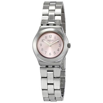 Swatch Passionement Rose Dial Ladies Steel Watch YSS310G