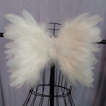 Baby, toddler or adult Feather Angel Wings Soft Beautiful Costume, Photo Prop, Wedding, Flower Girl, Christening, Pageant Decor FREE GIFT