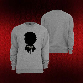 sherlock holmes sweater Sweatshirt Crewneck Men or Women Unisex Size