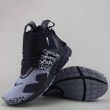 Trendsetter Nike Air Presto Mid Acronym  Fashion Casual High-Top Sneakers Sport Shoes