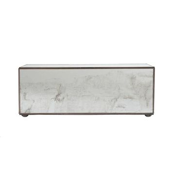 Worlds Away Rectangular Antique Mirror Box