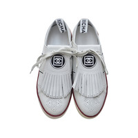 Chanel New White Golf Or Tennis Shoes New 39.5
