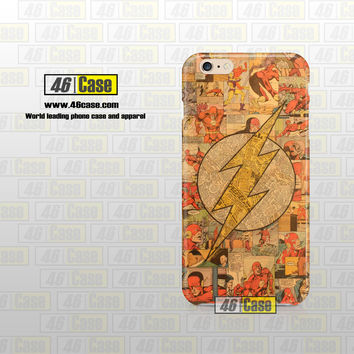 Flash Superhero Logo DC Comics Collage Art iPhone Case Cover Series