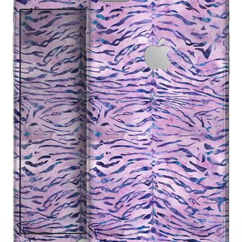 Purple Watercolor Tiger Pattern - Skin-kit for the iPhone 8 or 8 Plus