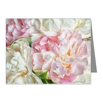 BLOOMING PEONIES NOTE CARDS (PK OF 20)
