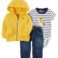 3-Piece Rainy Dog Little Jacket Set