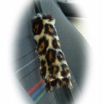 Leopard animal print Guitar shoulder pad messenger bag strap pad seatbelt pad comfort wild cheetah furry fuzzy fluffy fur universal multi