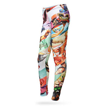 Street Fighter V Character Striped Leggings - Exclusive