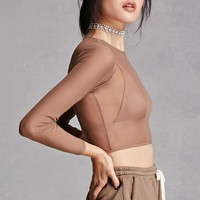 Sheer Mesh Crop Top