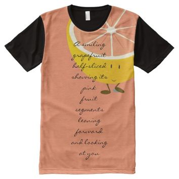 Grapefruit - as poetry T-shirt All-Over Print T-shirt