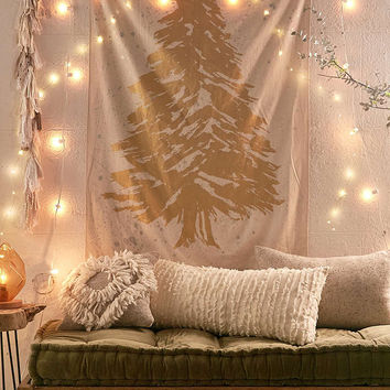 Gold Foil Tree Tapestry - Urban Outfitters