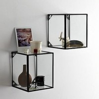 Glass + Metal Display Shelf | west elm