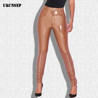 Newest Black Latex Full Length Sexy Women High Quality Ladies Pants Bodycon Pants