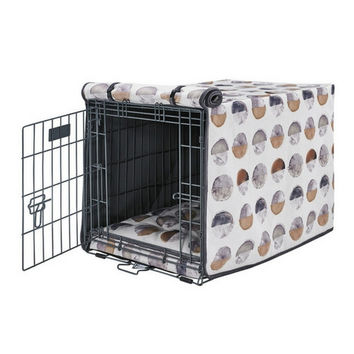 MicroVelvet Luxury Dog Crate Cover — Eclipse