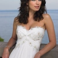 Beaded Lace Wedding Gown by Destinations by Mon Cheri