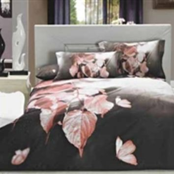 Fresco Leaves Twin XL Comforter Set - College Ave Designer Series Supplies For College Girls Best Dorm Stuff