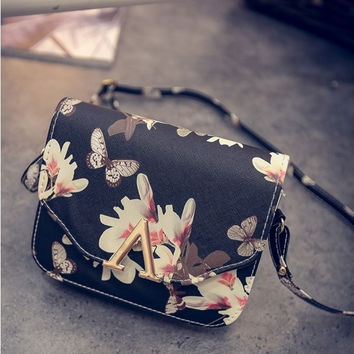Black Print Shoulder Bags [6581150407]