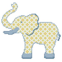 Baby Boy Elephant - A set of three Cross Stitch Patterns in PDF - INSTANT DOWNLOAD