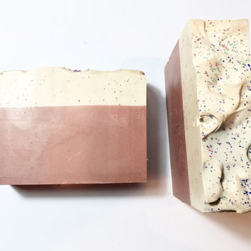 Sprinkles Soap, Pink Sugar Soap, Fig Leaf Soap, Cold Process Soap, Vanilla Candy Soap, Women's Soap, Homemade Soap, Handmade Soap,