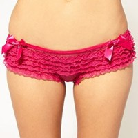 Playful Promises Frilly Brief With Satin Bows at asos.com