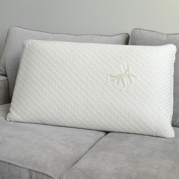 Italian 6-inch Memory Foam Pillow with Rayon from Bamboo Cover | Overstock.com Shopping - The Best Deals on Memory Foam Pillows