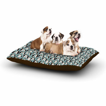 "Mayacoa Studio ""Penguin Colony"" Blue Black Dog Bed"