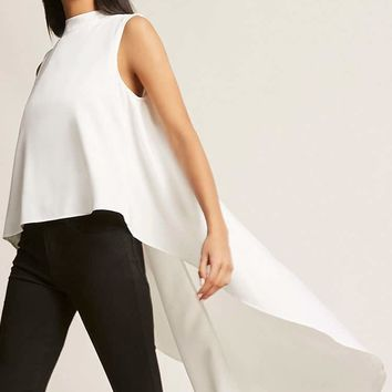 High-Low Mock Neck Top