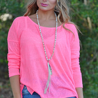 Beach Life Blouse in Pink