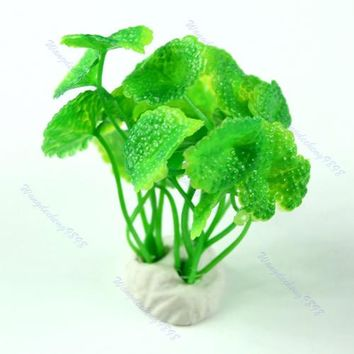 Aquarium Decorative Green Plastic Plant Grass Fish Tank Landscape Decoration