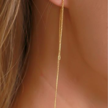 Tell Me 'Bout It Chain Earring Gold