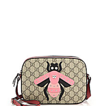 Gucci - GG Supreme Bee Shoulder Bag - Saks Fifth Avenue Mobile
