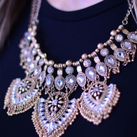 Make A Statement Necklace - Gold