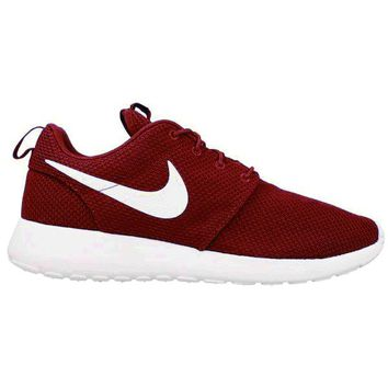"""NIKE"" Roshe One Fashion And Classic Shoes Women Men Casual Sport Shoes Sneakers Wine Red B"