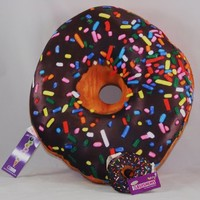 iscream Sweet Treats Donut Microbead Pillow with Mini Squishem Scented Donut Backpack Charm
