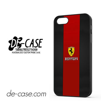 Ferrari Logo Red Black Design For Iphone 5 Iphone 5S Case Phone Case Gift Present