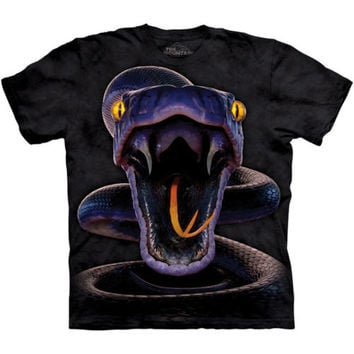 SNAKE STRIKE The Mountain Big Face Reptile Venom Adult Mens T-Shirt S-3XL NEW